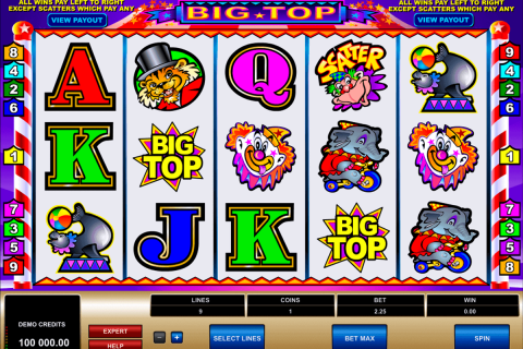 big top microgaming free slot