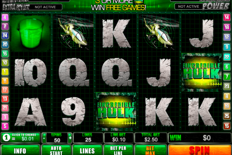 incredible hulk playtech free slot
