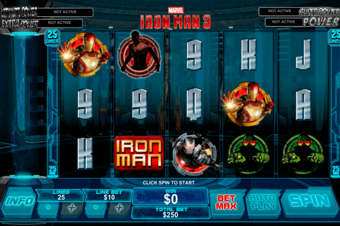 iron man  playtech free slot
