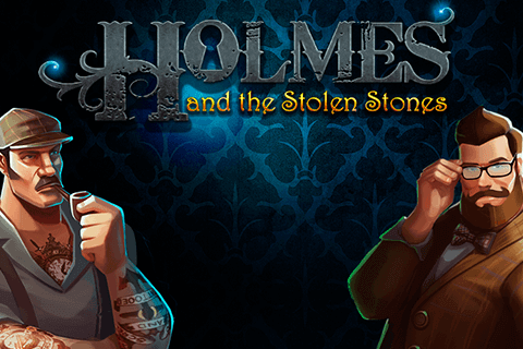 logo holmes and the stolen stones slot game