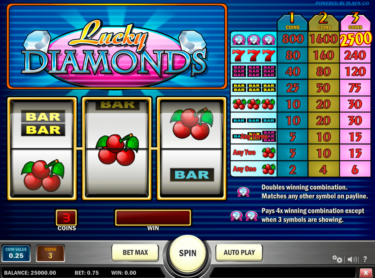 lucky diamonds playn go