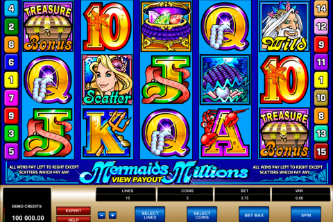 mermaids millions microgaming free slot
