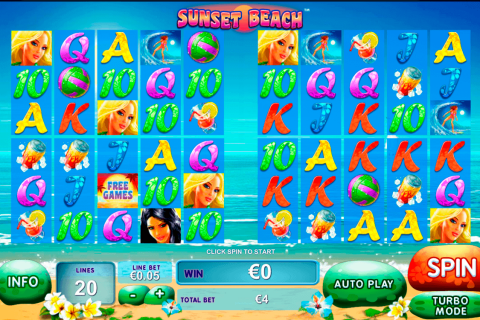 sunset beach playtech free slot