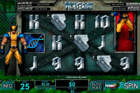 wolverine playtech free slot