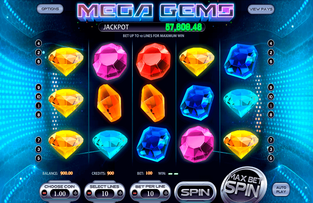 mega gems betsoft