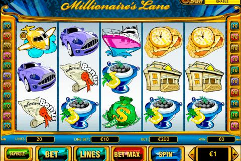millionaires lane playtech free slot