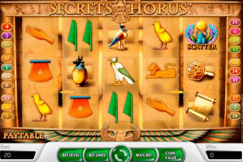secrets of horus netent