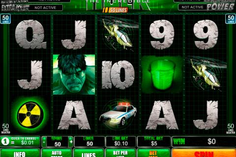 the incredible hulk lines playtech free slot
