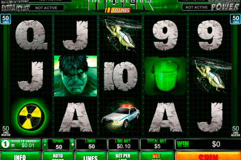the incredible hulk lines playtech free slot
